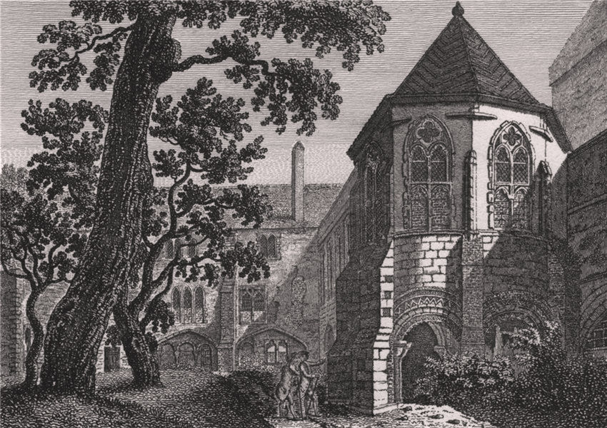 Associate Product CANTERBURY CATHEDRAL. 'The Baptistry'. GOSTLING 1825 old antique print picture