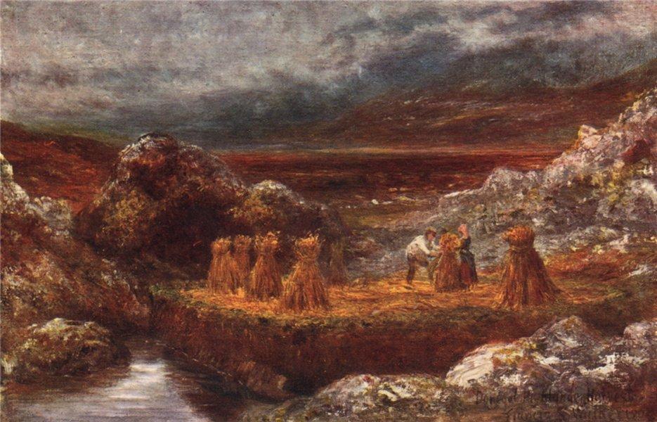 'A Donegal Harvest' by FrancisSylvesterWalker. Ireland 1905 old print