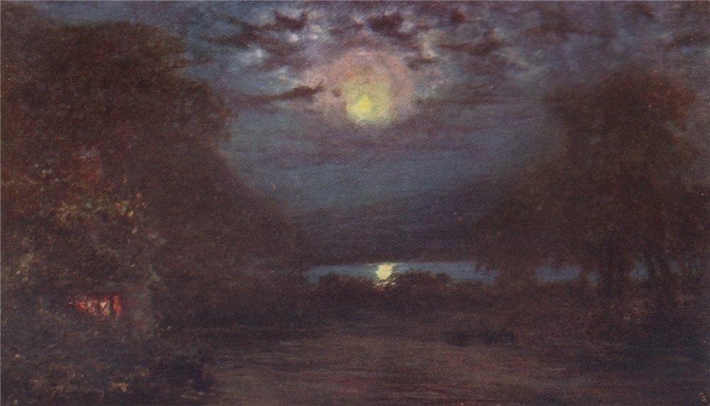 Associate Product 'Moonlight on Muckross' by FrancisSylvesterWalker. Ireland 1905 old print
