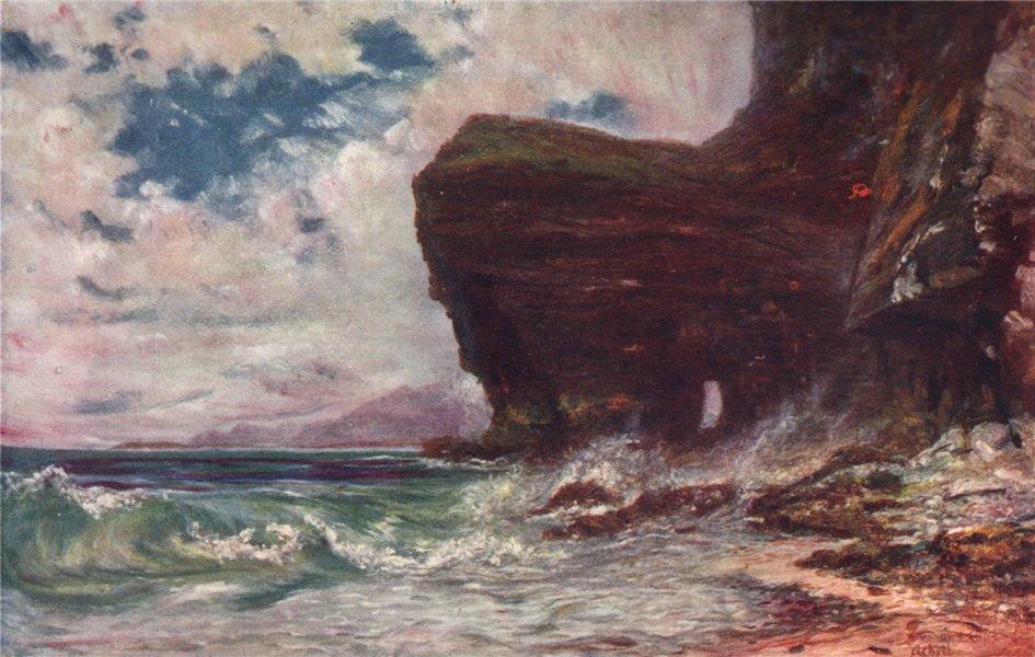 Associate Product 'Meenaune Cliffs, Achill' by FrancisSylvesterWalker. Ireland 1905 old print