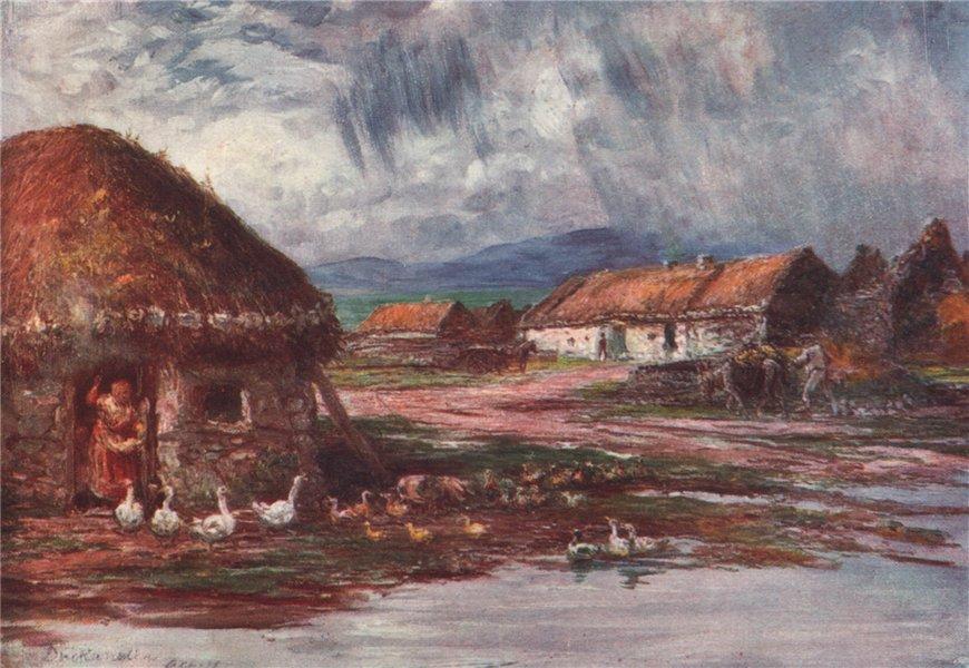 Associate Product 'A Village in Achill' by FrancisSylvesterWalker. Ireland 1905 old print