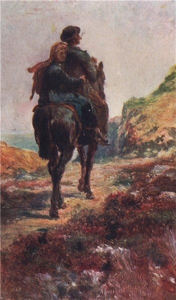 Associate Product 'The Pillion' by FrancisSylvesterWalker. Ireland 1905 old antique print
