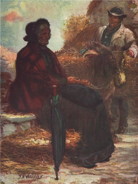 Associate Product 'Market Day' by FrancisSylvesterWalker. Ireland 1905 old antique print