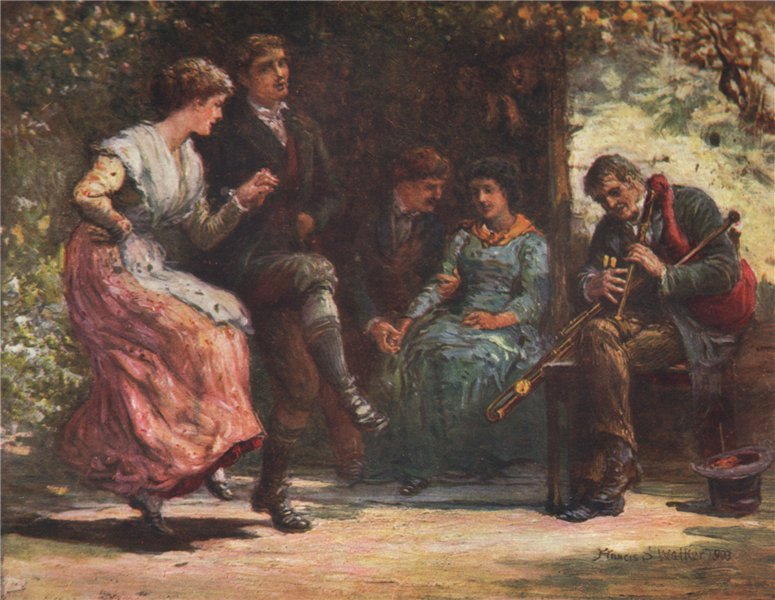 Associate Product 'The Piper's visit' by FrancisSylvesterWalker. Ireland 1905 old print