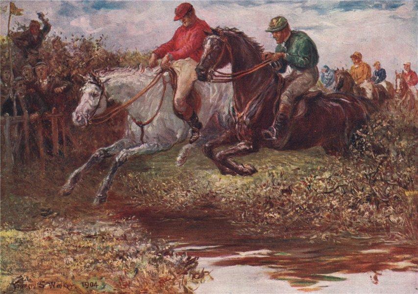 Associate Product 'Steeplechasing' by FrancisSylvesterWalker. Ireland 1905 old antique print