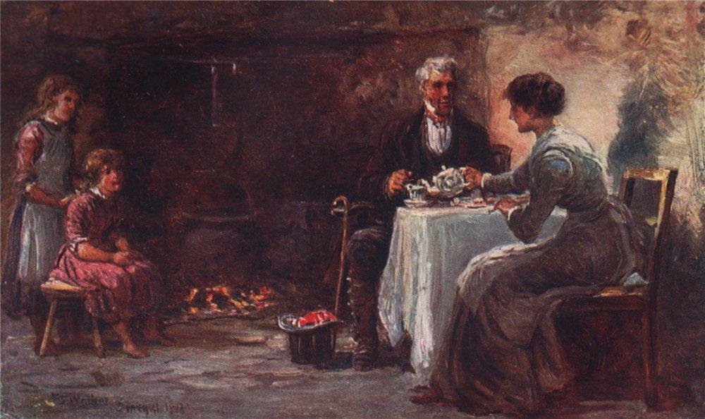 Associate Product 'Hospitality' by FrancisSylvesterWalker. Ireland 1905 old antique print