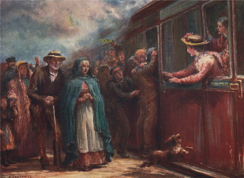 Associate Product 'Emigrants' by FrancisSylvesterWalker. Ireland 1905 old antique print