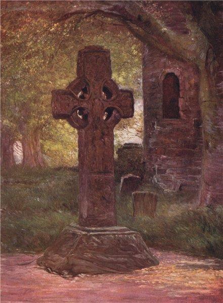 Associate Product 'Saint Columbkille's Cross, Kells' by FrancisSylvesterWalker. Ireland 1905