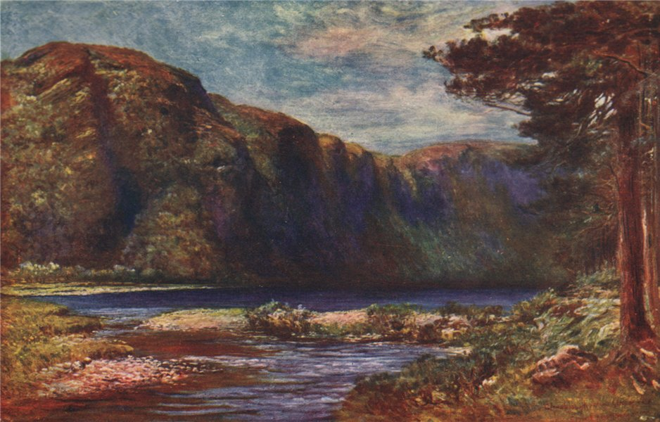 Associate Product 'Glendalough' by FrancisSylvesterWalker. Ireland 1905 old antique print