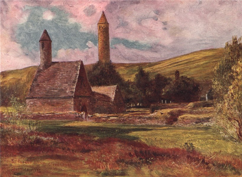 Associate Product 'St. Kevin's Church' by FrancisSylvesterWalker. Ireland 1905 old print