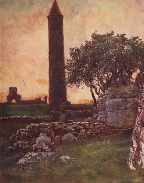 Associate Product 'The Round Tower on Devenish Island' by FrancisSylvesterWalker. Ireland 1905