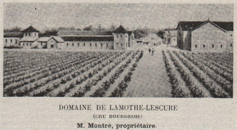 MÉDOC. EYSINES. Domaine de Lamothe-Lescure (Cru Bourgeois). Montré. SMALL 1908