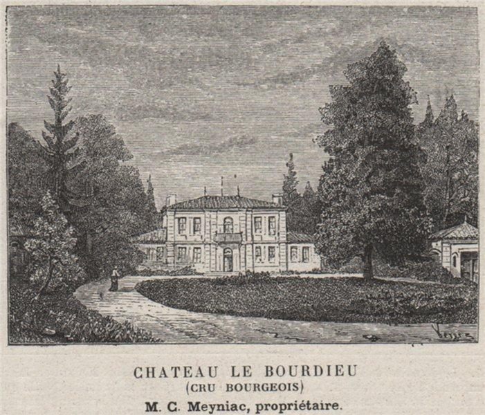 Associate Product MÉDOC. SAINT-MEDARD-EN-JALLE. Chateau le Bourdieu (Cru Bourgeois). SMALL 1908