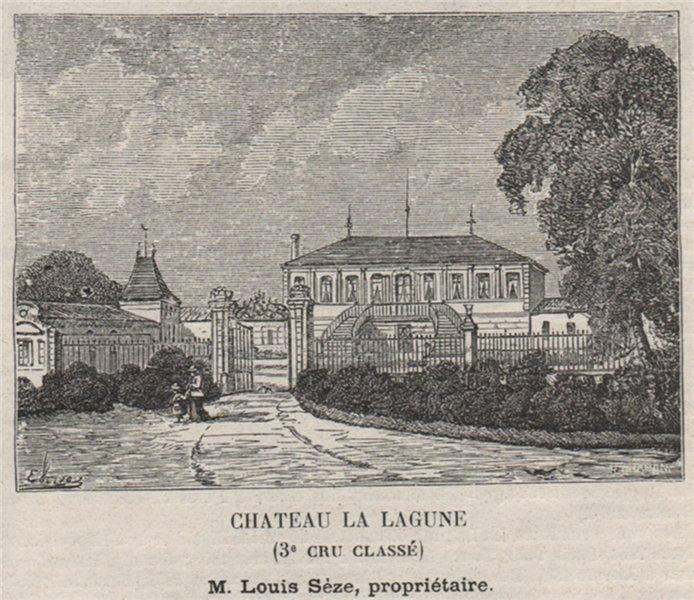 Associate Product MÉDOC. LUDON. Chateau la Lagune (3e. Cru Classé). Sèze. Bordeaux. SMALL 1908