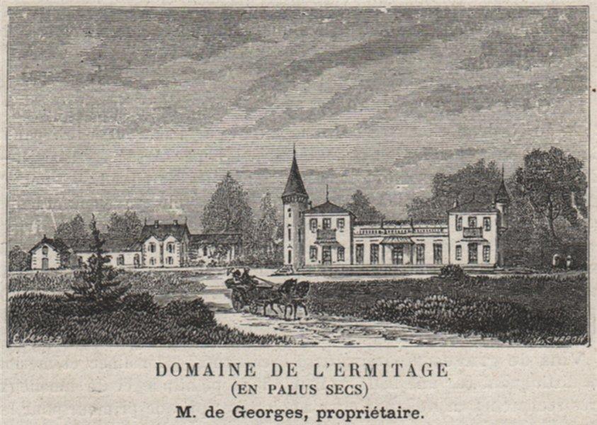 Associate Product MÉDOC. LUDON. Domaine de l'Ermitage (En Palus Secs). Georges. SMALL 1908 print