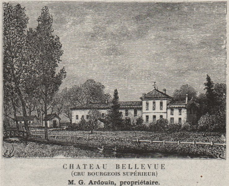 Associate Product MÉDOC. MACAU. Chateau Bellevue (Cru Bourgeois Supérieur). Ardouin. SMALL 1908