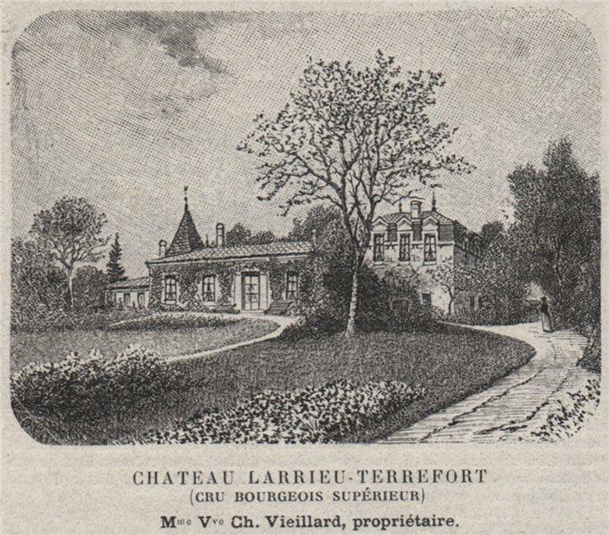 Associate Product MÉDOC. MACAU. Chateau Larrieu-Terrefort (Cru Bourgeois Supérieur). SMALL 1908