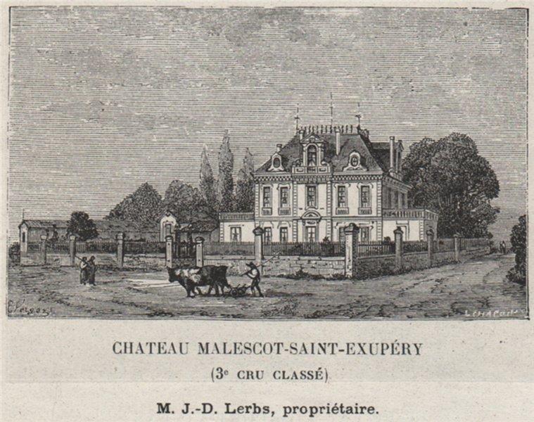 Associate Product MÉDOC. MARGAUX. Chateau Malescot-Saint-Exupéry (3e Cru Classé). SMALL 1908