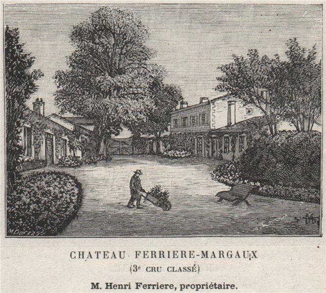 Associate Product MÉDOC. MARGAUX. Chateau Ferriere-Margaux (3e Cru Classè). Ferriere. SMALL 1908
