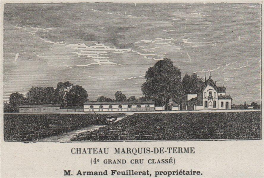 Associate Product MÉDOC. MARGAUX. Chateau Marquis-de-Terme (4e Grand Cru Classé). SMALL 1908
