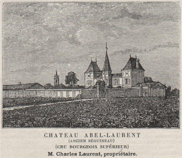 Associate Product MÉDOC MARGAUX Chateau Abel-Laurent Séguineau Cru Bourgeois Supérieur SMALL 1908