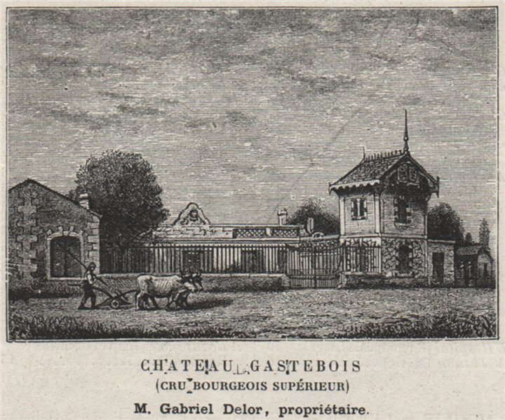 Associate Product MÉDOC. MOULIS. Chateau Gastebois (Cru Bourgeois Supérieur). Delor. SMALL 1908