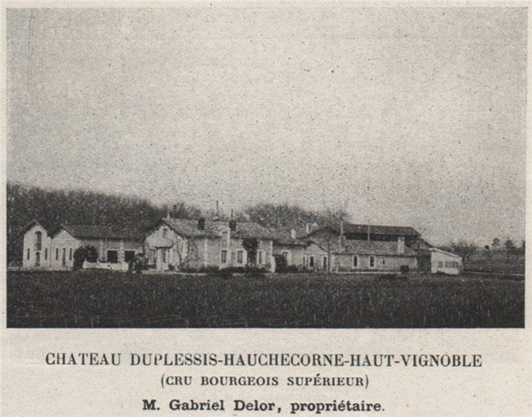 Associate Product MÉDOC MOULIS Chateau Duplessis-Hauchecorne-Haut-Vignoble. Bordeaux. SMALL 1908