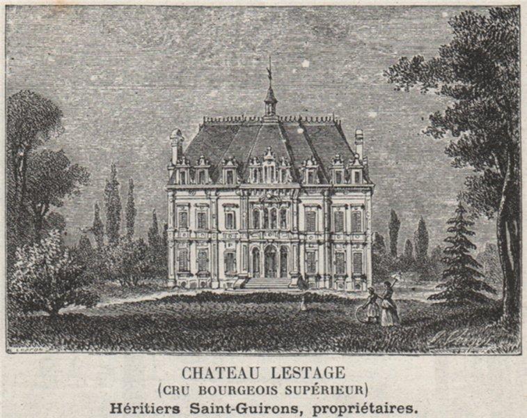 Associate Product MÉDOC. LISTRAC. Chateau Lestage (Cru Bourgeois Supérieur). Bordeaux. SMALL 1908