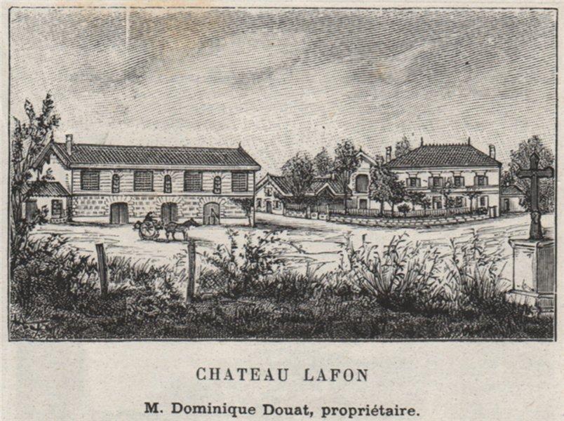 Associate Product MÉDOC. LISTRAC. Chateau Lafon. Douat. Bordeaux. SMALL 1908 old antique print