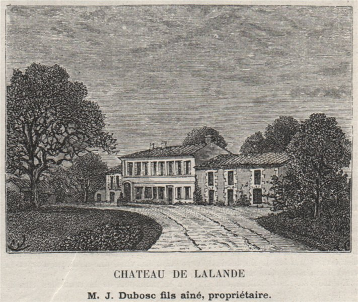 Associate Product MÉDOC. LISTRAC. Chateau de Lalande. Dubosc. Bordeaux. SMALL 1908 old print
