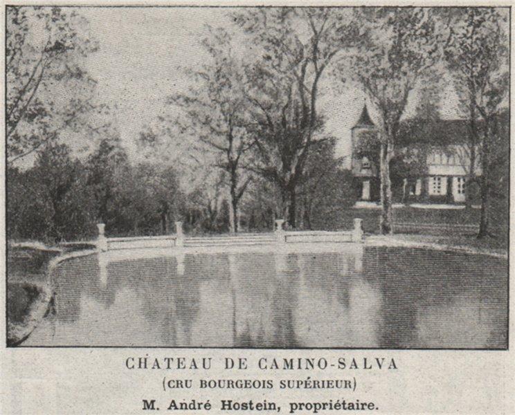 Associate Product MÉDOC. CUSSAC. Chateau de Camino-Salva (Cru Bourgeois Supérieur). SMALL 1908