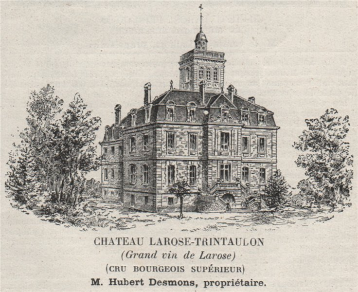 Associate Product MÉDOC SAINT-LAURENT Chateau Larose-Trintaulon Cru Bourgeois Supérieur SMALL 1908