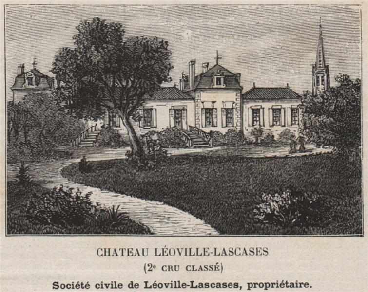 Associate Product MÉDOC. SAINT-JULIEN. Chateau Léoville-Lascases (2e Cru Classé). SMALL 1908