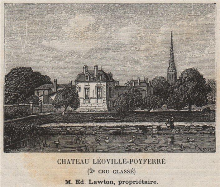Associate Product MÉDOC. SAINT-JULIEN. Chateau Léoville-Poyferré (2e Cru Classé). SMALL 1908