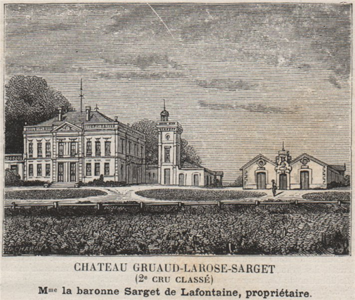 Associate Product MÉDOC. SAINT-JULIEN. Chateau Gruaud-Larose-Sarget (2e Cru Classé). SMALL 1908