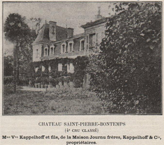 Associate Product MÉDOC. SAINT-JULIEN. Chateau Saint-Pierre-Bontemps (4e Cru Classé). SMALL 1908
