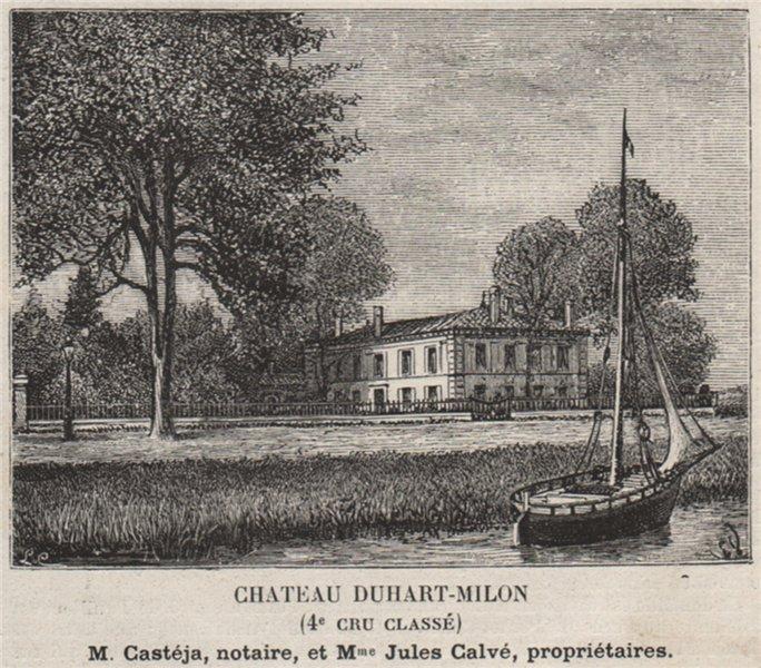 Associate Product MÉDOC. PAUILLAC. Chateau Duhart-Milon (4e Cru Classé). Calvés. SMALL 1908