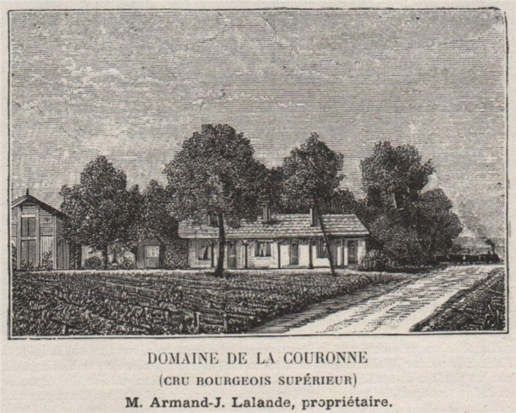 Associate Product MÉDOC. PAUILLAC. Domaine de la Couronne (Cru Bourgeois Supérieur). SMALL 1908