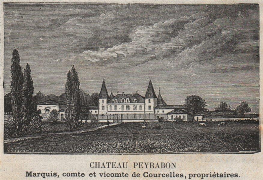 Associate Product MÉDOC. SAINT-SAUVEUR. Chateau Peyrabon. Courcelles. Bordeaux. SMALL 1908 print