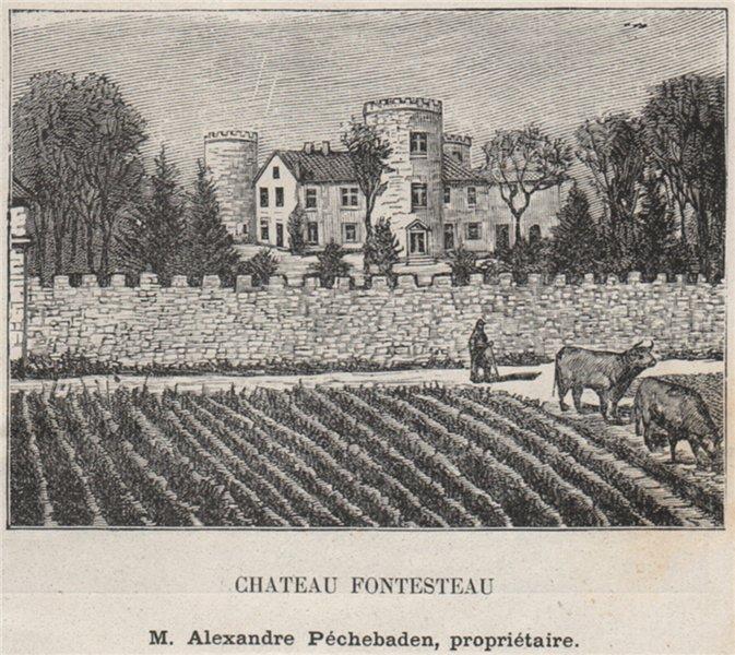 Associate Product MÉDOC. SAINT-SAUVEUR. Chateau Fontesteau. Péchebaden. Bordeaux. SMALL 1908