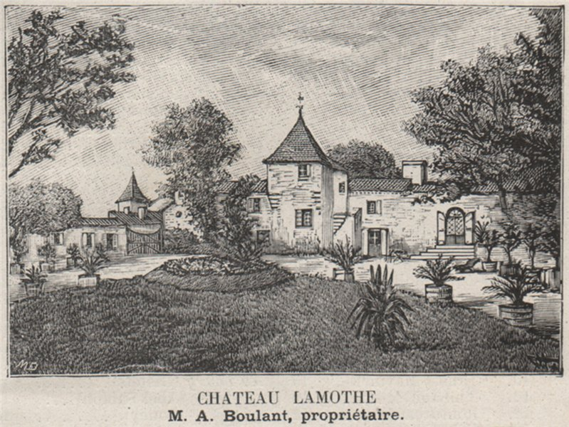 Associate Product MÉDOC. CISSAC. Chateau Lamothe. Boulant. Bordeaux. SMALL 1908 old print