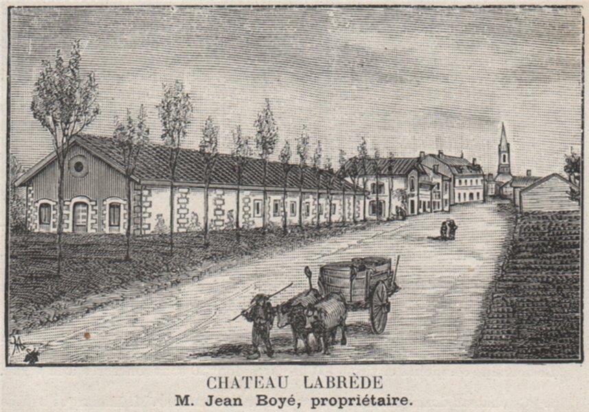 Associate Product MÉDOC. CISSAC. Chateau Labrède. Boyé. Bordeaux. SMALL 1908 old antique print