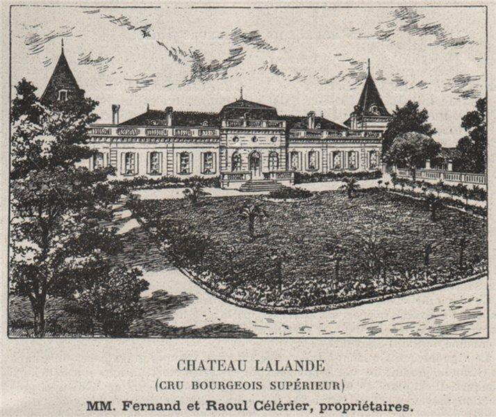 Associate Product MÉDOC. SAINT-ESTÈPHE. Chateau Lalande (Cru Bourgeois Supérieur). SMALL 1908