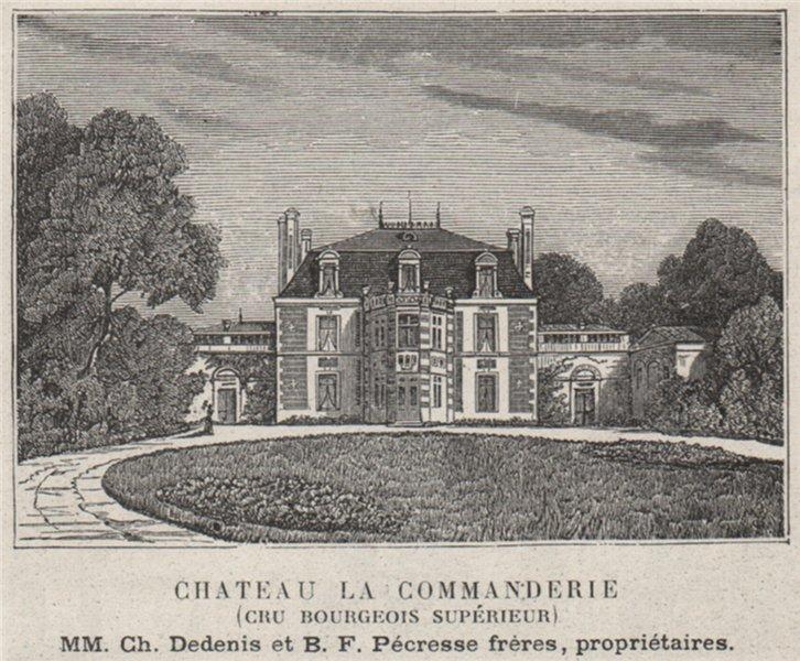 Associate Product MÉDOC. SAINT-ESTÈPHE. Chateau la Commanderie. Cru Bourgeois Supérieur.SMALL 1908