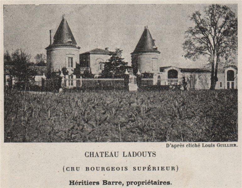 Associate Product MÉDOC. SAINT-ESTÈPHE. Chateau Ladouys (Cru Bourgeois Supérieur). SMALL 1908