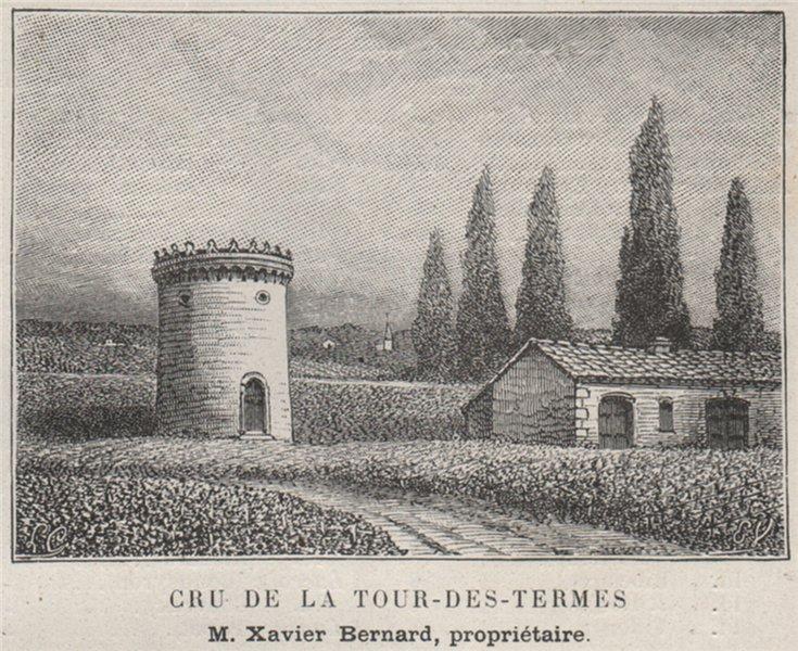 Associate Product MÉDOC. SAINT-ESTÈPHE. Cru de la Tour-des-Termes. Bernard. Bordeaux. SMALL 1908