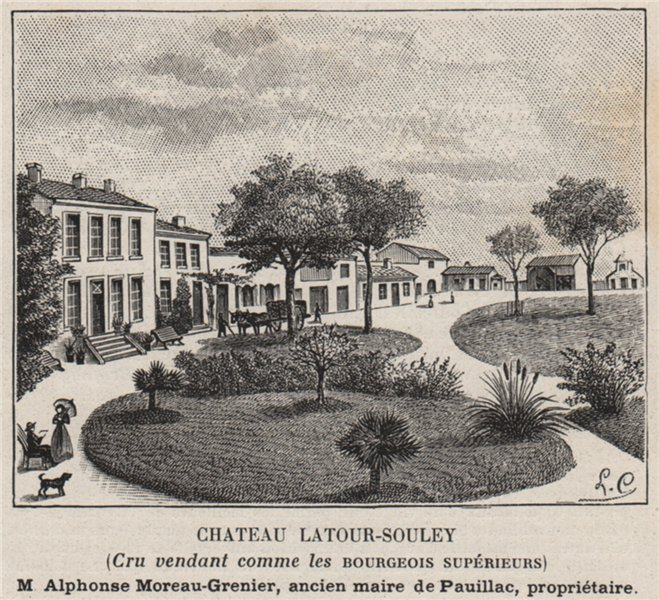 Associate Product MÉDOC VERTHEUIL Chateau Latour-Souley Cru vendant Bourgeois Supérieur SMALL 1908