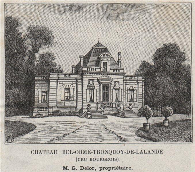 Associate Product MÉDOC ST-SEURIN-DE-CADOURNE Chateau Bel-Orme-Tronquoy-de-Lalande. SMALL 1908