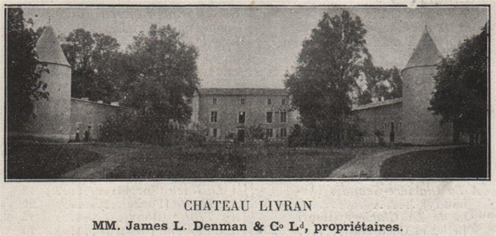Associate Product MÉDOC. SAINT-GERMAIN-D'ESTEUIL. Chateau Livran. Denman. Bordeaux. SMALL 1908