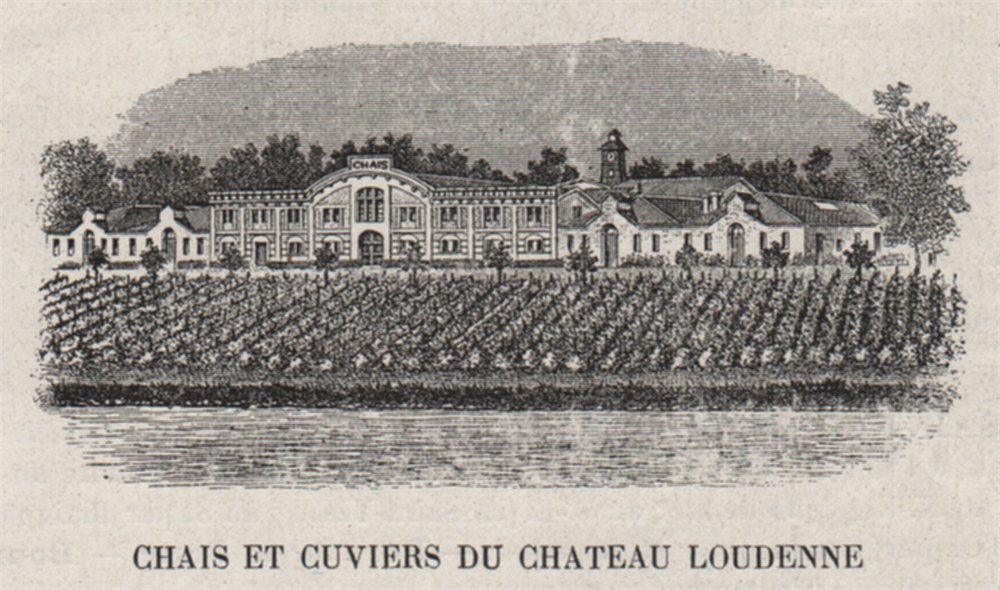 Associate Product MÉDOC. SAINT-YZANS. Chais et Cuviers du Chateau Loudenne. . SMALL 1908 print